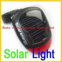 wholesale/retail bike light waterproof Red LED Solar Power Bicycle Rear Light