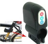 20pcs/lot Vibration Activated 110dB Bicycle Anti-Theft Security Alarm with Password Keypad