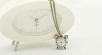 Cute Alarm Clock Shape Watch Necklace Fashion Jewelry+Gift & Free Shipping