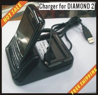 Free shipping all countries cellphone accessories, USB charger AC charger battery charger for HTC-DIAMOND2
