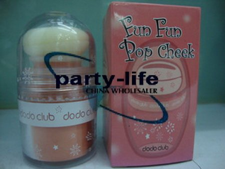 dodo club Fun Fun Pop Cheek 6g (4# light orange), 50pcs/lot ,free shipping by EMS(China (Mainland))