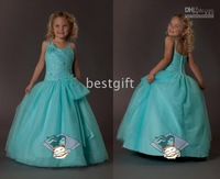 Girl Pageant Wedding Dress Size2-10 w6 Halter Style Flower