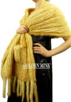 Wholesale-free shipping -exalted fashion mink fur shawl,lady's bandelet,fashion scarves ,Warm muffler,top quality