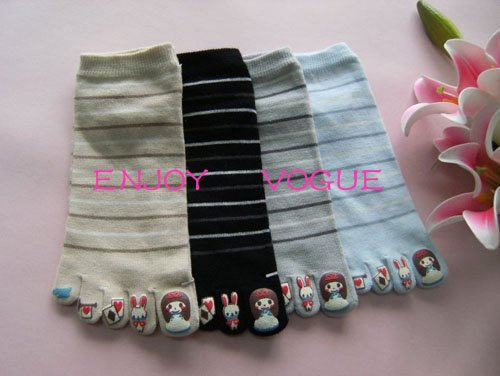 2010 Hot Sale Promotional Products Ladies warm 5 toes socks + 65gram(China (Mainland))