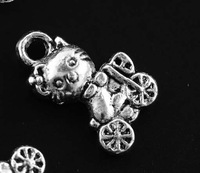 Free shipping Tibetan silver Lead-free without nickel Bear charm pendants