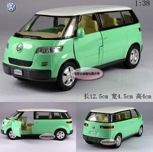 Frete grátis - Atacado e retai 01:38 Volkswagen Bus, modelos de carros Microbus / liga / presente de Natal(China (Mainland))