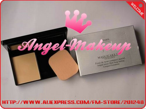 Free Shipping New MAQUICAKE UV EXCELLENCE Matt long lasting Compact Foundation( 12 pcs/lot)+Free Gift(China (Mainland))