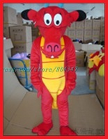 Red Dragon Dinosaur Mascot Costume Christmas Adult Cartoon Mascot Costume Free Shipping