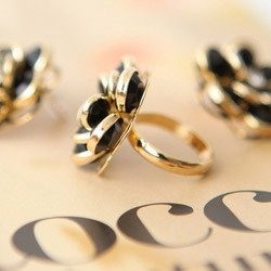 wholesale JZ1016  a small rose petals ring freeshipping