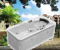 luxurious indoor spa bathtub