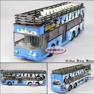 Frete grátis - Atacado e retai luxo double-decker open-top passeios de ônibus / Paixão Tempestade Tema / som presente / Natal(China (Mainland))
