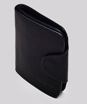 free shipping purse wallet Genuine black cowhide leather Men's man wallet male wallet card package 3 fold wallet purse 432(China (Mainland))