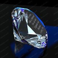 100mm diamond Paperweight,K9 crystal+machine cut+free shipping