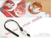 2010 New Watch Bracelet Leather Knitting cord Watch chain Free Shipping 20pcs/lot
