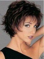 Great beautiful women's fashion medium hair wig Free shipping