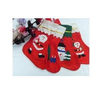 10pcs 2011 New Style Christmas Stockings Best Christmas Gift Decorated