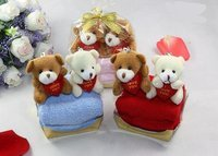 free shipping ,100% cotton ,plush toy towel,cake towel ,gift towel ,children gift towel ,colors