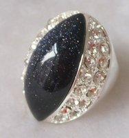 Free shipping.Gift insurance. .Block Onyx & White Topaz Silver plating Ring.Size U(10).