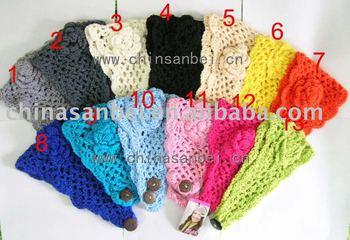 NEW fashion Handmade Knit Headwrap flower crochet Headband