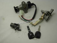 Free Shipping Ignition Lock Cylinder Set GY6 50CC 139QMB 139QMA scooter moped parts @62412