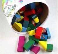 Blocks barrels / child kids  / 50pcs wooden castle building blocks of large beech animals blocks