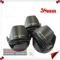 Free shipping+20pcs 58mm Flower Camera Hood Petal for Canon EOS 18-55 lens