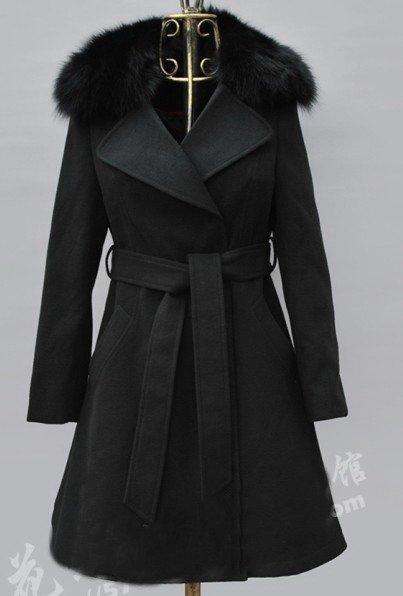 roupas shippingWinter livre donzela cultivar a moralidade OL lapela golas de raposa de mangas compridas de lã NeDaYi parágrafo coa(China (Mainland))