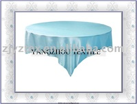 "sell 90*90"" light blue satin overlay /table overlays"