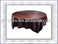 """sell 90*90"""" fchocolate brown overlay /table overlays"""