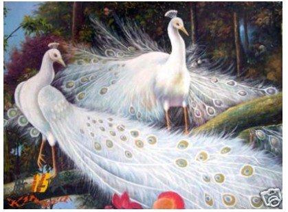 Pintura a óleo animal: Os pavões que caem no amor garantiram o transporte livre de 100%