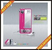 Free shipping--16MP POCKET super-thin 8X Digital Zoom HD-1 DV Digital Video Camera