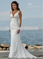 new Beach Bridal Wedding Dress high quality hot sale Free shipping
