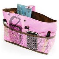 Free shipping two sides use / MP3 phone storage Organizer Multi Bag Purse Hop Bag Handbag Insert, 10pcs/lot
