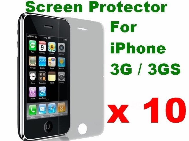 10pcs/lot Clear LCD Film Guard protector for iPhone 3G 3GS(China (Mainland))