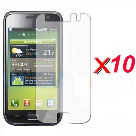 10pcs/lot New Screen Guard Protector for Samsung Galaxy S i9000(China (Mainland))
