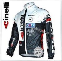 Free Shipping!! WINTER THERMAL FLEECE 2010 CInelli CYCLING LONG JERSEY black&white pick: S-XXXL