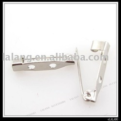 300pcs/lot Wholesale Fashion New Plated Rhodium Brooch Back Safety Catch Bar Pins 20mm 160276(China (Mainland))