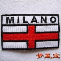 New embroidered badges / fabric sticker /Flag MILANO /custom badge/embroidered patch free shipping
