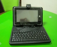 Free Shipping Protective leather Keyboard Case 7 inch Tablets