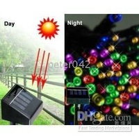 5pcs Solar Powered Christmas Lights 60Multi-Color LED(CE standard,no AC or )!