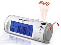 Free shipping+10pcs/lot supply Voice projection clock / projection clock sensor ,led clock !!