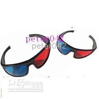 Free shipping+10pcs/lot Red and blue 3D glasses !