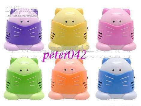 Free shipping+60pcs/lot supply small cat vacuum cleaner / vacuum cleaner cartoon / Desktop Vacuum Cleaner!!!(China (Mainland))