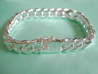 wholesale 	925 Silver 10mm Wide Bracelet For Men Free shipping 925 jewelry,925 sterling Silver fashion jewelry K67