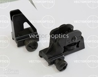 Tactical AR-15 M4 / M16 Combined Front & Rear Iron Sight Set Full Metal Fit Picatinny / Weaver Style Rails