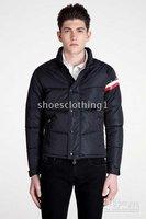 Top Brand Men's Fashion jackets,men's Outerwear Black men's Down Coats all size