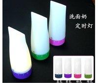 Free Shipping 6pcs/lot cleanser shape led timer lamp/ hot sell led timer night light