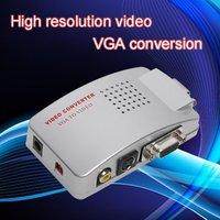 Universal PC VGA to TV AV RCA Signal Adapter Converter Video Switch Box Supports NTSC PAL system free shipping