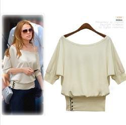 Camiseta / camisa de algodão de moda feminina atacado T(China (Mainland))