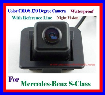 CAR REAR VIEW REVERSE BACKUP COLOR CMOS 170 DEGREE WATERPROOF NIGHT VISION CAMERA FOR Mercedes Benz S Series